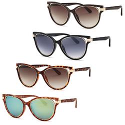 Modern Diva Frame Sunglasses (4 Pack)