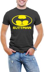 ButtMan Fun Men T-Shirt Soft Cotton Short Sleeve Tee