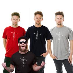 Faith Men T-Shirt- Big and Tall Sizes