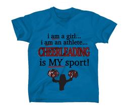 AFONiE Cheerleading Is My Sport Kids T-Shirt