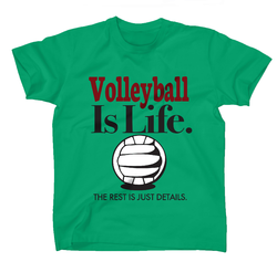 AFONie Volleyball Is Life Kids T-Shirt