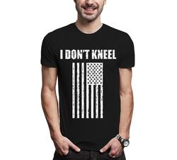 I DON'T KNEEL FLAG RESPECT USA TRUMP - Assorted Color Men T-Shirt S-XXXL