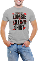 This is My Zombie Killing Men T-Shirt Soft Cotton Short Sleeve Tee Shirt