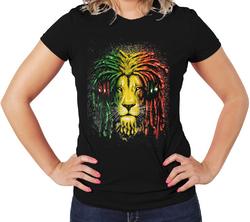 Jamica Colors Lion Women T-Shirts