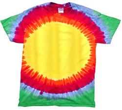 Sunburst Rainbow Colorful Tie Dye T-Shirt Sizes S-XXXL