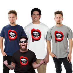 Vampire Diamond Red Lips Men T-Shirt- Big and Tall Sizes