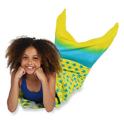 Mermaid Tail Shaped Towel for Girls 100% Cotton-2 Colors options