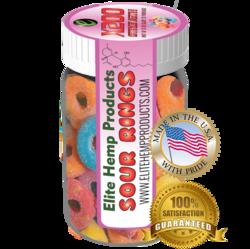 Elite Hemp Gummies Hemp Infused Sour Rings x200 Strength (Classic)