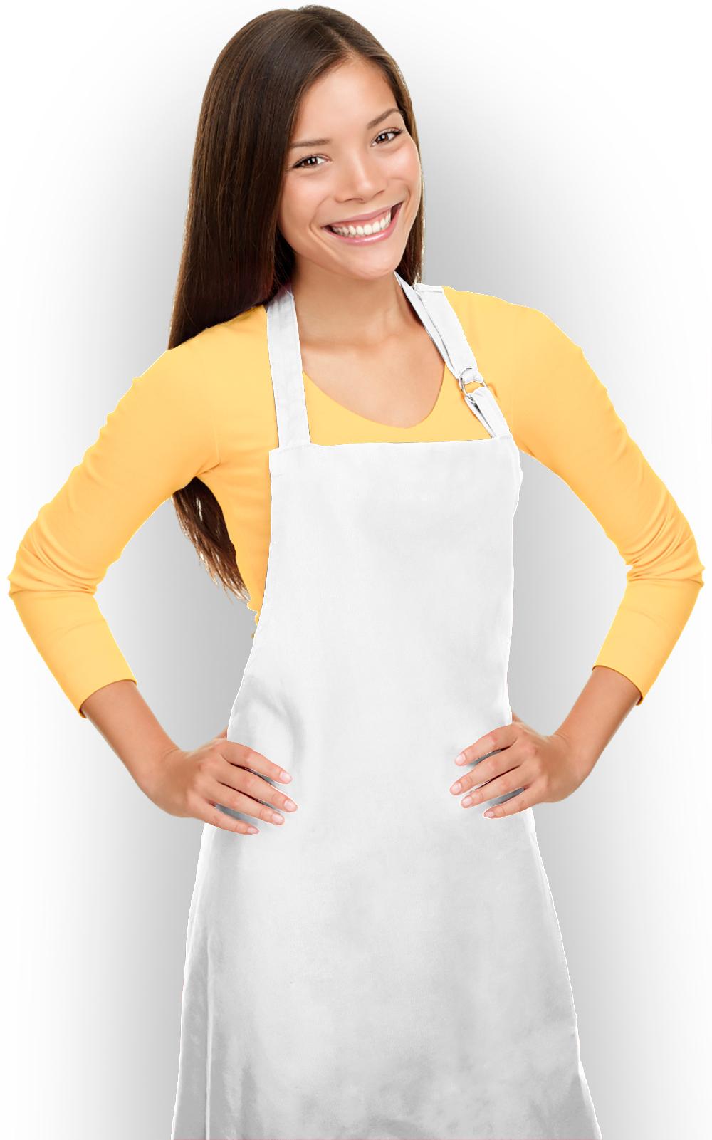 White apron cheap - Plain Chef Bib Aprons Cheap Cooking Aprons