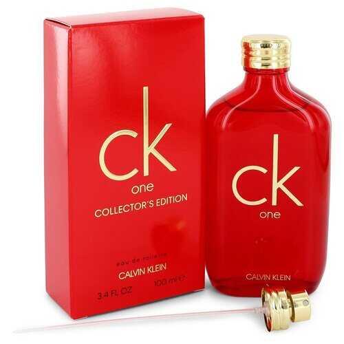 CK ONE by Calvin Klein Eau De Toilette Spray (Unisex Red Collector's Edition) 3.3 oz (Men)