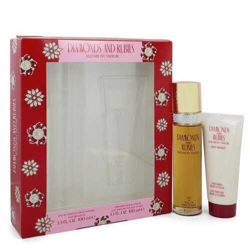 DIAMONDS & RUBIES by Elizabeth Taylor Gift Set -- 3.3 oz Eau De Toilette Spray + 3.3 oz Body Lotion (Women)