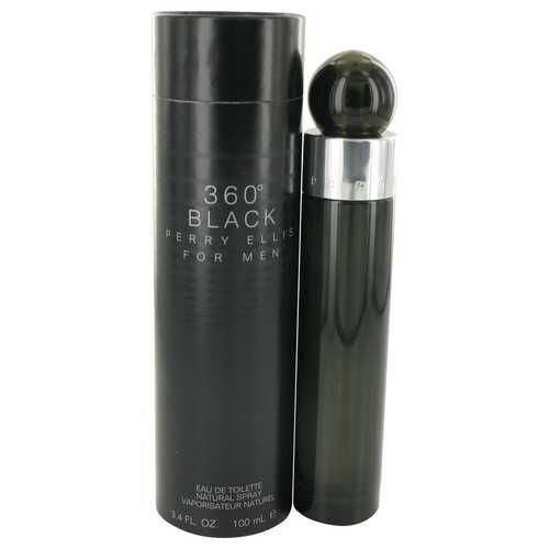Perry Ellis 360 Black by Perry Ellis Eau De Toilette Spray 3.4 oz (Men)