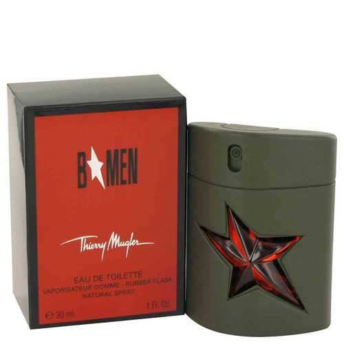 B Men by Thierry Mugler Eau De Toilette Spray Rubber Flask 1 oz (Men)