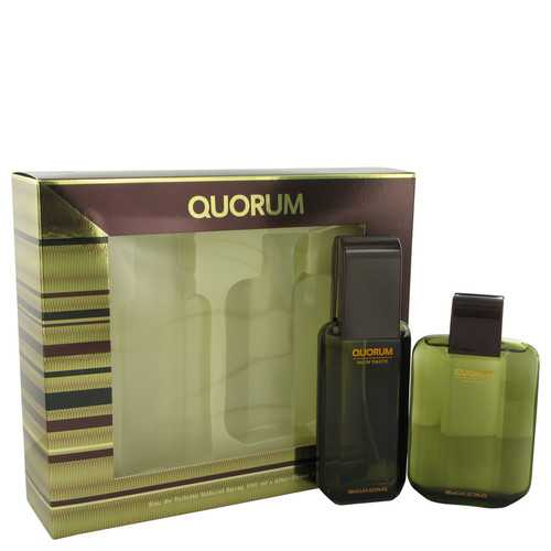 QUORUM by Antonio Puig Gift Set -- 3.3 oz Eau De Toilette Spray + 3.3 oz After Shave (Men)