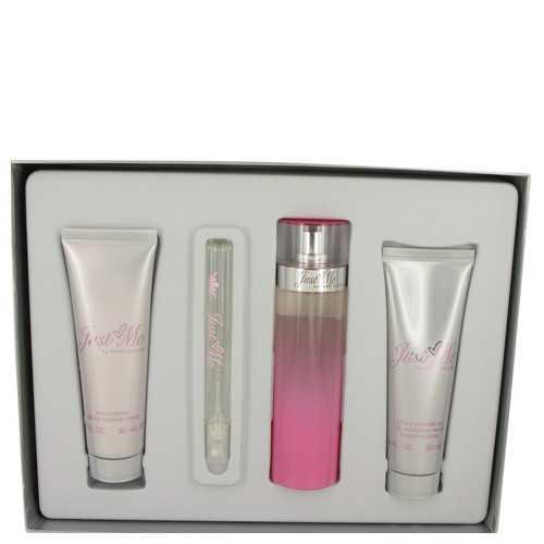 Just Me Paris Hilton by Paris Hilton Gift Set -- 3.3 oz Eau De Parfum Spray + 3 oz Body Lotion + 3 oz Shower Gel + .34 oz Mini EDP Spray (Women)