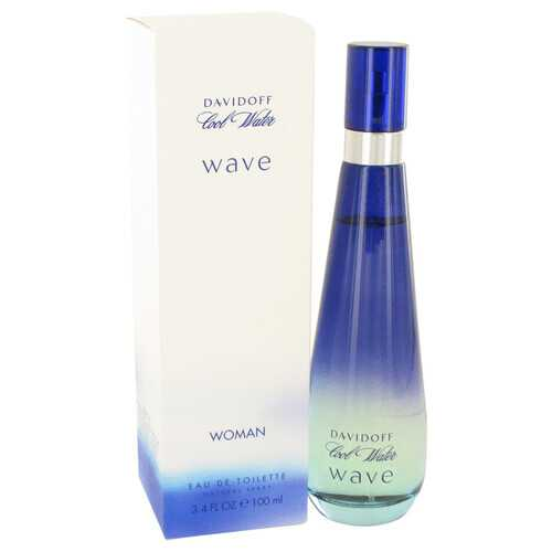 Cool Water Wave by Davidoff Eau De Toilette Spray 3.4 oz (Women)