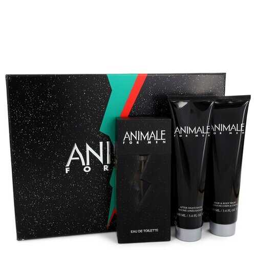 ANIMALE by Animale Gift Set -- 3.3 oz Eau De Toilette Spray + 3.4 oz After Shave Balm + 3.4 oz Body Wash (Men)