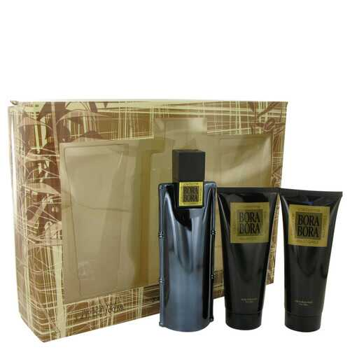 Bora Bora by Liz Claiborne Gift Set -- 3.4 oz Cologne Spray + 3.4 oz Body Moisturizer + 3.4 oz Hair & Body Wash (Men)