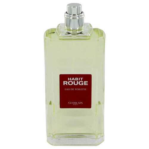 HABIT ROUGE by Guerlain Eau De Toilette Spray (Tester) 3.4 oz (Men)