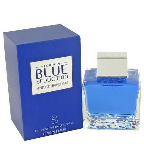 Blue Seduction by Antonio Banderas Eau De Toilette Spray 3.4 oz (Men)
