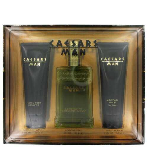 CAESARS by Caesars Gift Set -- 4 oz Cologne Spray + 3.3 oz Shower Gel + 3.3 oz After Shave Balm (Men)