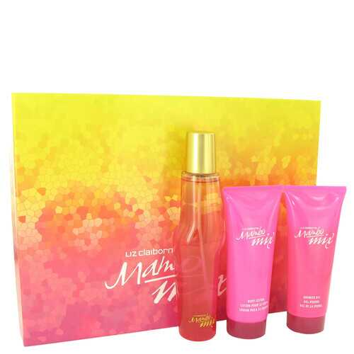 Mambo Mix by Liz Claiborne Gift Set -- 3.4 oz Eau De Parfum Spray + 3.4 oz Body Lotion + 3.4 oz Shower Gel (Women)