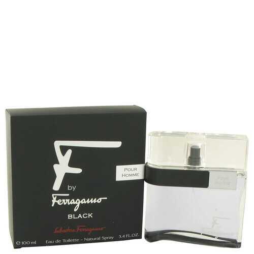 F Black by Salvatore Ferragamo Eau De Toilette Spray 3.4 oz (Men)