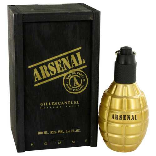 Arsenal Gold by Gilles Cantuel Eau De Parfum Spray 3.4 oz (Men)