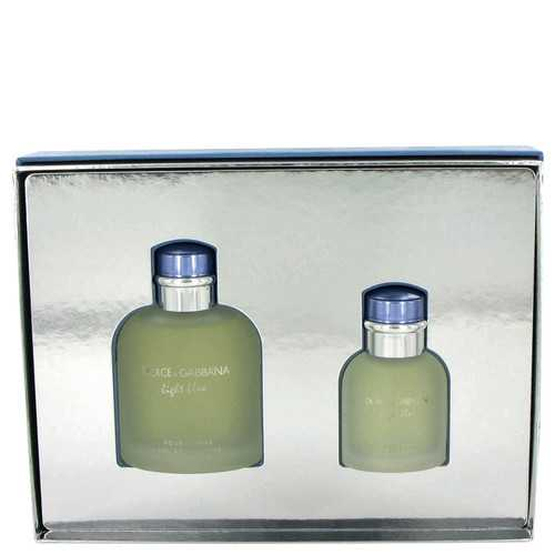 Light Blue by Dolce & Gabbana Gift Set -- 4.2 oz Eau De Toilette Spray + 1.3 oz Eau De Toilette Spray (Men)