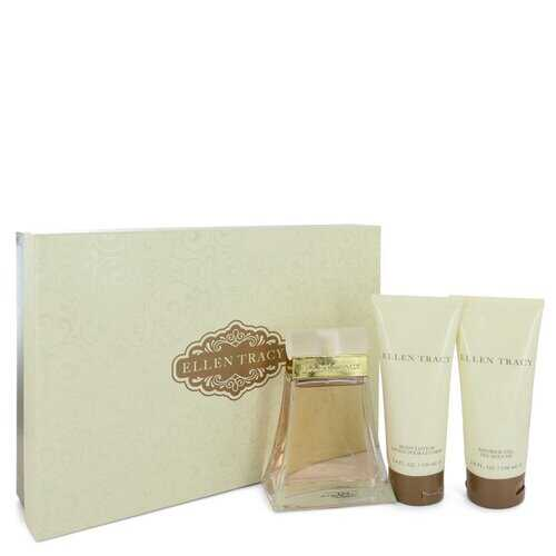 ELLEN TRACY by Ellen Tracy Gift Set -- 3.4 oz Eau De Parfum Spray + 3.4 oz Body Lotion + 3.4 oz Shower Gel (Women)