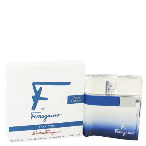 F Free Time by Salvatore Ferragamo Eau De Toilette Spray 3.4 oz (Men)