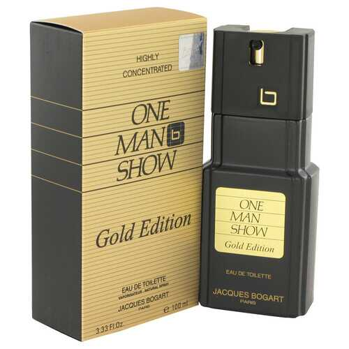 One Man Show Gold by Jacques Bogart Eau De Toilette Spray 3.3 oz (Men)