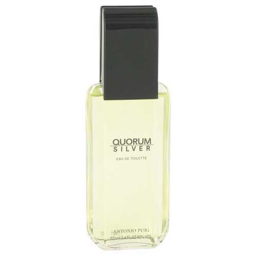 Quorum Silver by Puig Eau De Toilette Spray (Tester) 3.4 oz (Men)