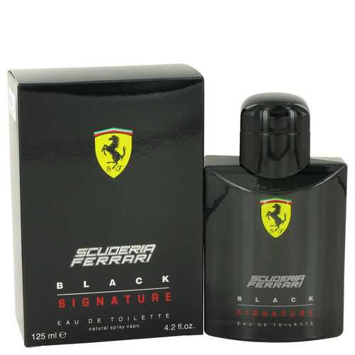 Ferrari Scuderia Black Signature by Ferrari Eau De Toilette Spray 4.2 oz (Men)