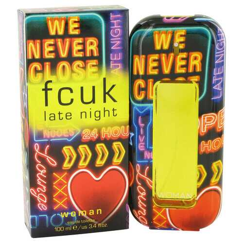 FCUK Late Night by French Connection Eau De Toilette Spray 3.4 oz (Women)