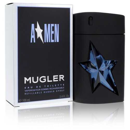 ANGEL by Thierry Mugler Eau De Toilette Spray Refillable (Rubber) 3.4 oz (Men)