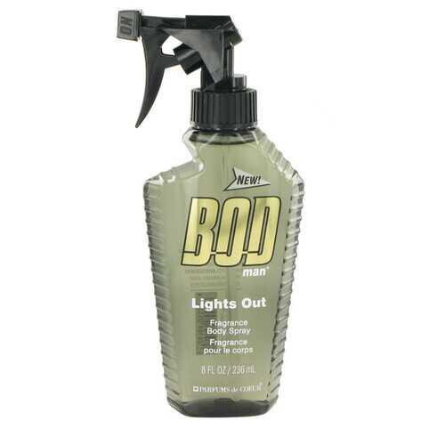 Bod Man Lights Out by Parfums De Coeur Body Spray 8 oz (Men)