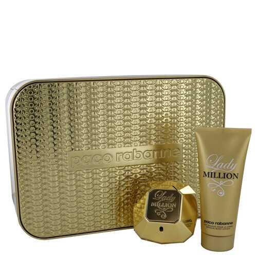 Lady Million by Paco Rabanne Gift Set -- 2.7 oz Eau De Parfum Spray + 3.4 oz Body Lotion (Women)