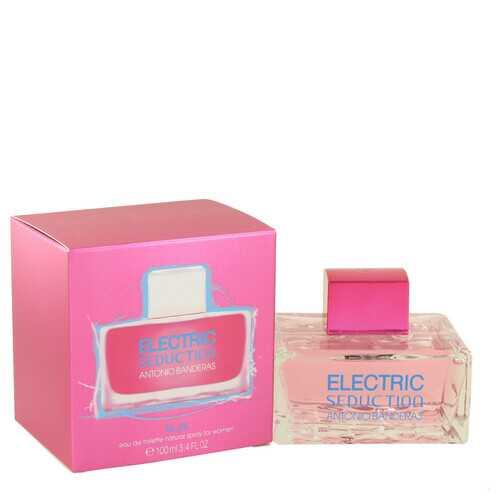 Electric Seduction Blue by Antonio Banderas Eau De Toilette Spray 3.4 oz (Women)