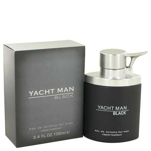 Yacht Man Black by Myrurgia Eau De Toilette Spray 3.4 oz (Men)