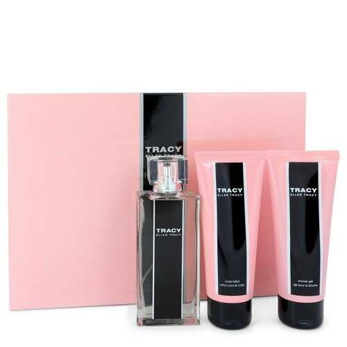 Tracy by Ellen Tracy Gift Set -- 2.5 oz Eau De Parfum Spray + 3.4 oz Body Lotion + 3.4 oz Shower Gel (Women)