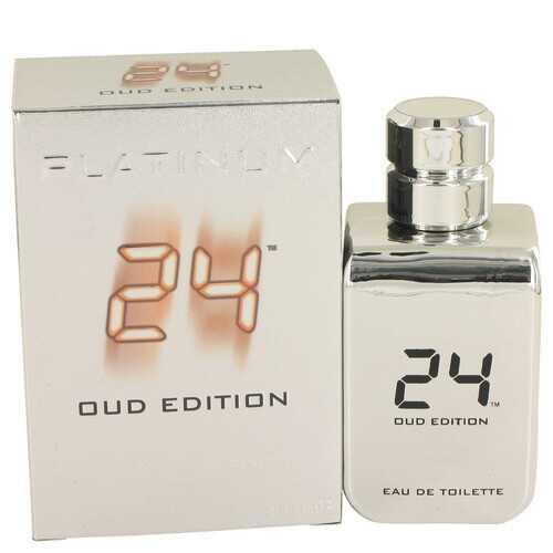 24 Platinum Oud Edition by ScentStory Eau De Toilette Concentree Spray (Unisex) 3.4 oz (Men)