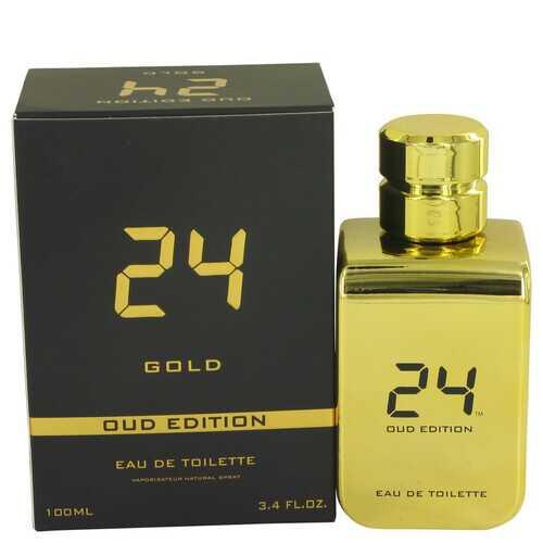 24 Gold Oud Edition by ScentStory Eau De Toilette Concentree Spray (Unisex) 3.4 oz (Men)