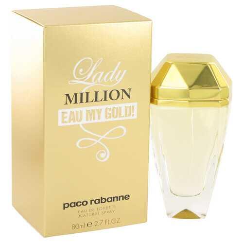 Lady Million Eau My Gold by Paco Rabanne Eau De Toilette Spray 2.7 oz (Women)