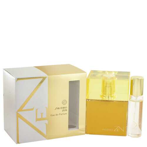 Zen by Shiseido Eau De Parfum Spray with .5 oz Mini EDP Spray 3.4 oz (Women)