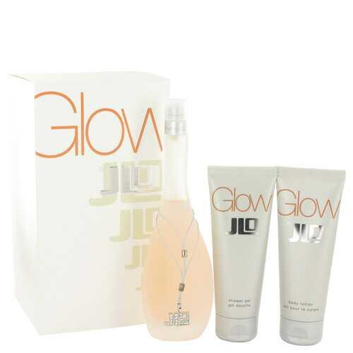 Glow by Jennifer Lopez Gift Set -- 3.4 oz Eau De Toilette Spray + 2.5 oz Body Lotion + 2.5 oz Shower Gel (Women)