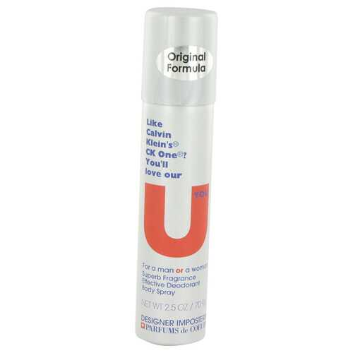 Designer Imposters U You by Parfums De Coeur Deodorant Body Spray (Unisex) 2.5 oz (Women)