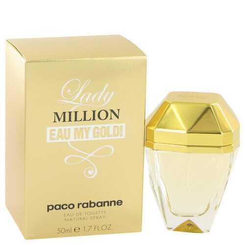 Lady Million Eau My Gold by Paco Rabanne Eau De Toilette Spray 1.7 oz (Women)