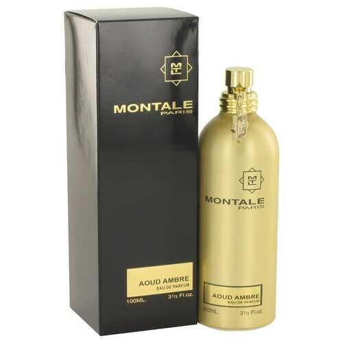 Montale Aoud Ambre by Montale Eau De Parfum Spray (Unisex) 3.4 oz (Women)
