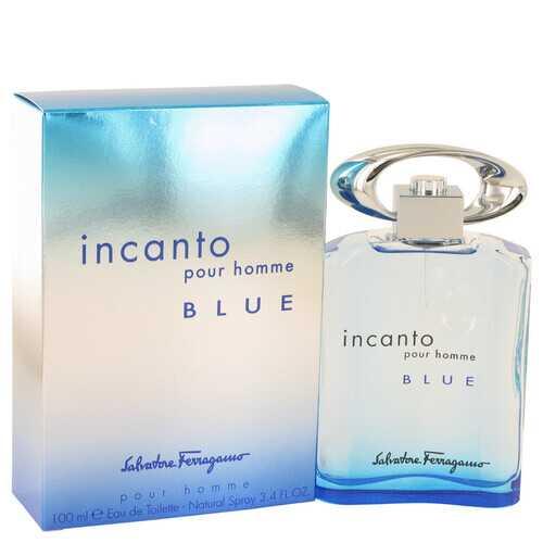 Incanto Blue by Salvatore Ferragamo Eau De Toilette Spray 3.4 oz (Men)